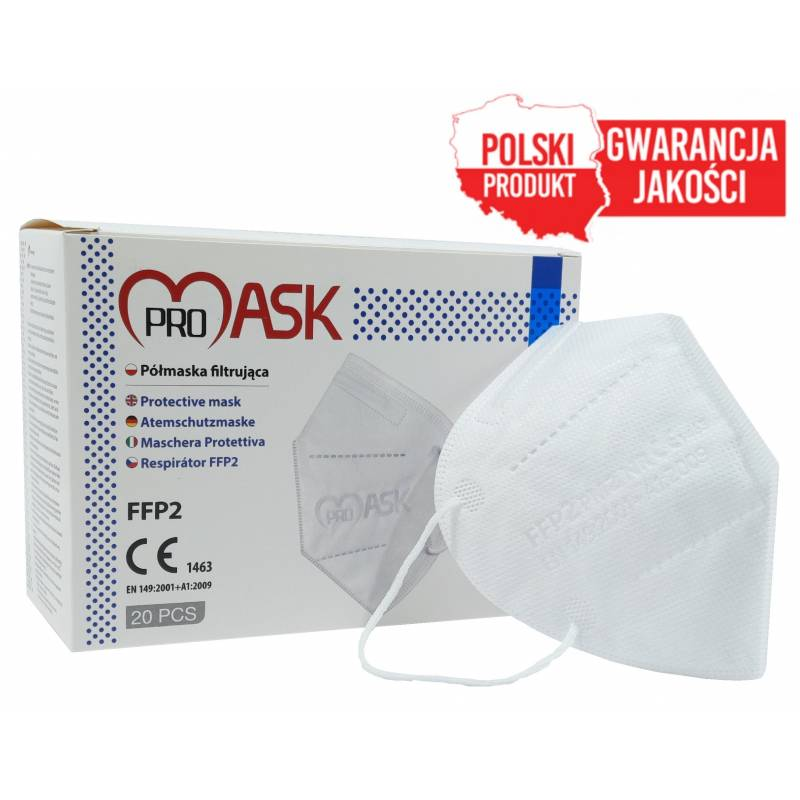 Maseczki ochronne FFP2 Polskie ProMask