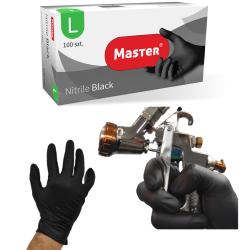 Rękawice nitrylowe roz. L  BLACK MASTER