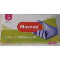 Rękawice nitrylowe bezpudrowe BLUE S MASTER