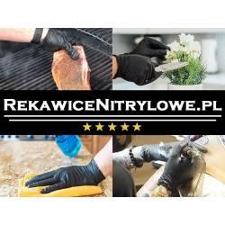 Rękawiczki nitrylowe roz. M  BLUE MASTER  100 szt. niebieskie