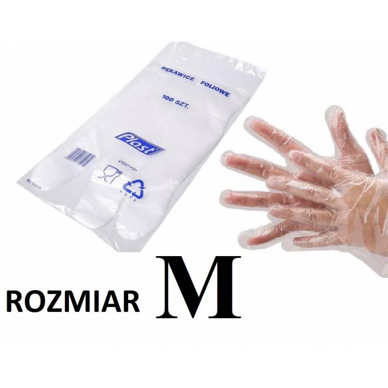 rękawice foliowe PLAST M