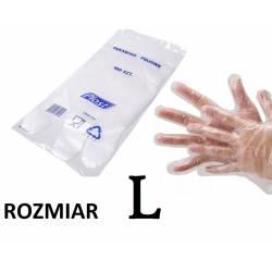rękawice foliowe PLAST L